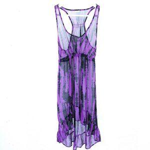 (Y1-18) Xhilaration Small Sheer Dress High Low
